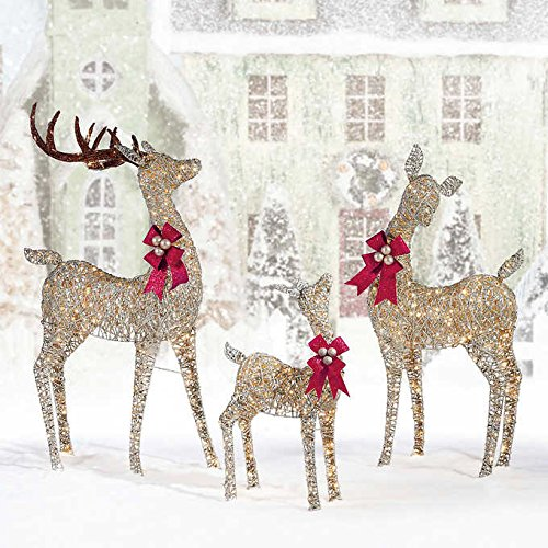 LED Elegant Deer Family, Set of 3