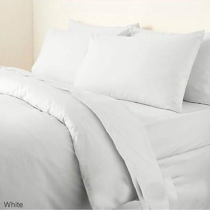 "24/"" Deep Luxury Plain Dyed Noniron Percale Cotton Single Bed Valance Sheet White"
