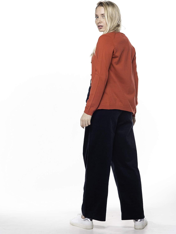 Elegante Cardigan Aperto da Donna con Bottoni ETERKNITY in 100/% Lana Merino