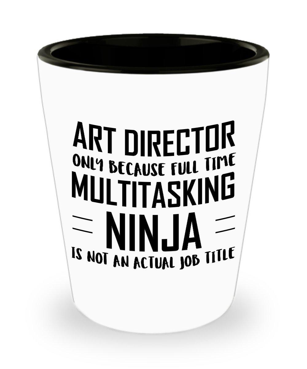 Amazon.com | Art director Shot Glass- Full Time Multitasking ...