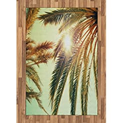 61N494p3PyL._SS247_ Palm Tree Area Rugs and Palm Tree Runners