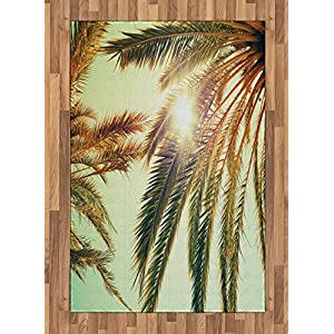 61N494p3PyL._SS300_ Palm Tree Area Rugs and Palm Tree Runners