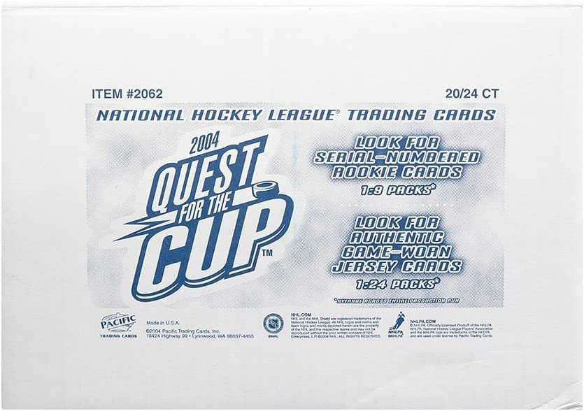 24 Packs 2003-04 Pacific Quest For The Cup Hobby Box Factory Sealed