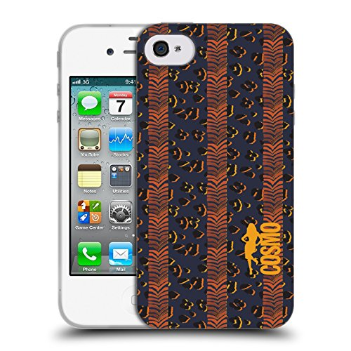Official Cosmopolitan Zebra Leopard Animal Print Soft Gel Case for Apple iPhone 4 / 4S
