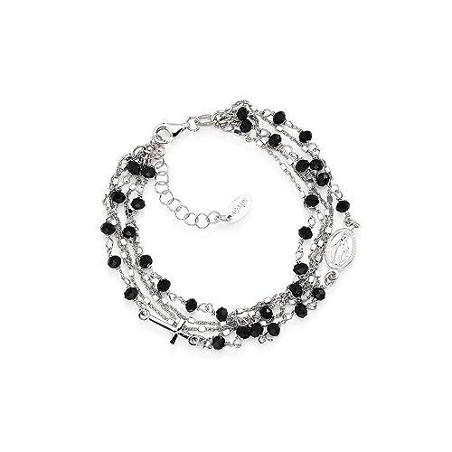 stili classici forma elegante più recente bracciale donna gioielli Amen Rosari casual cod. BRMF