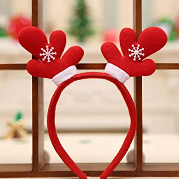 Christmas Headband Craft.Amazon Com Cute Christmas Headbands Pack Hair Band Head