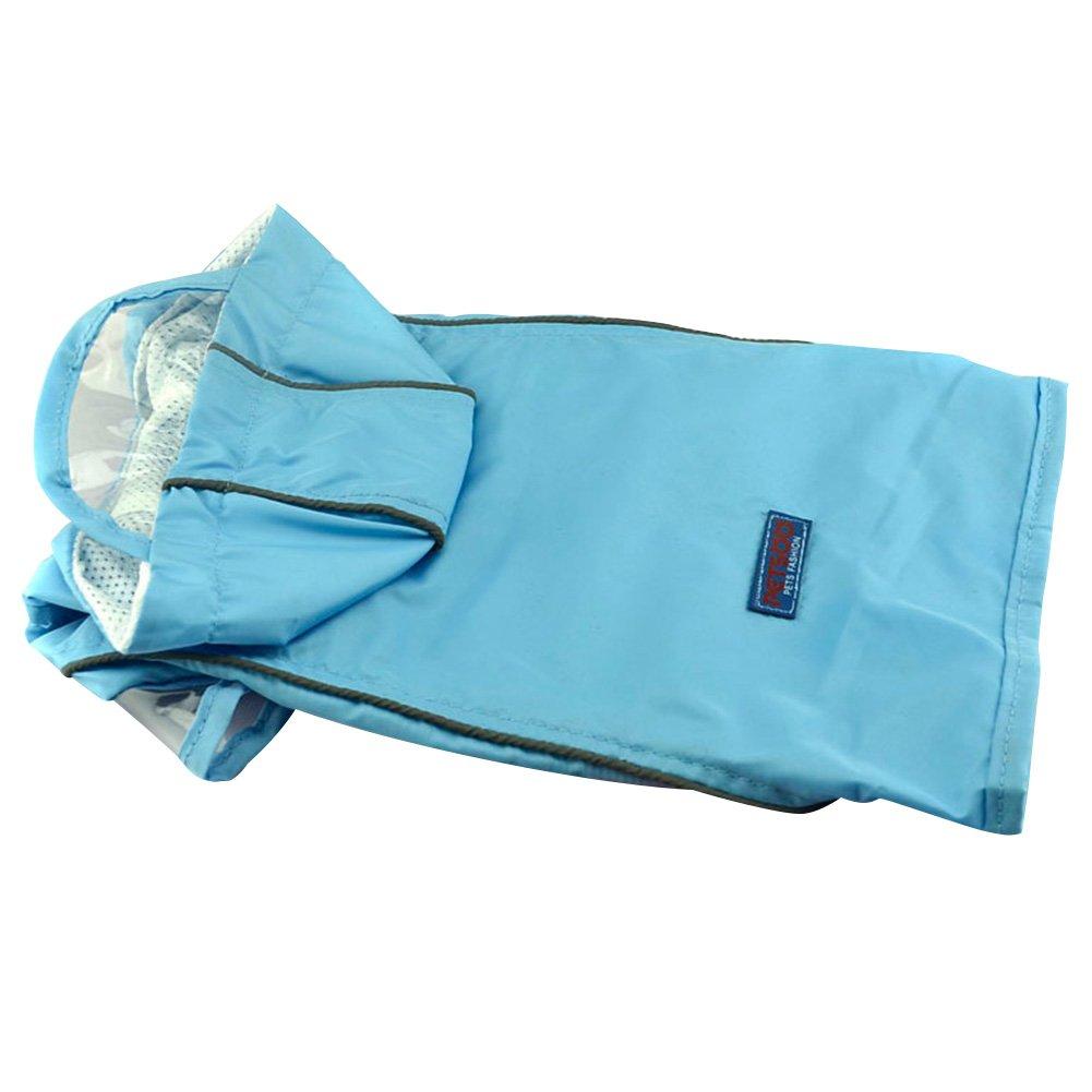 YIMEIMEI Pet Dog Raincoat Jacket Waterproof Rain Coat Clothes Blue S by YIMEIMEI