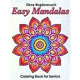 Easy Mandalas Coloring Book for Seniors
