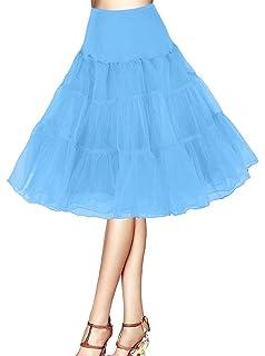 f6bca5f7e97c63 ❤️Petticoat Unterrock 50er Jahre Krinoline Hoopless Kleid Tutu Petticoat  Kleid 50s tüllrock Kinder Rockabilly net