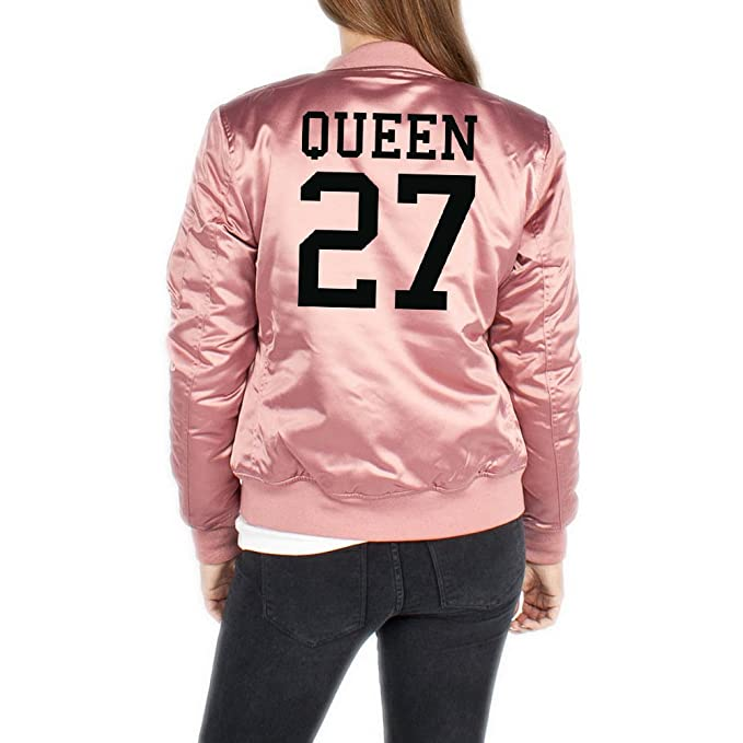 Queen 27 Bomber Chaqueta Girls Rosa Certified Freak: Amazon ...