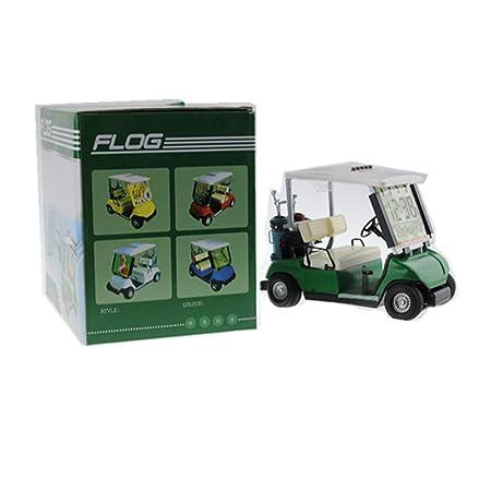 Crestgolf Mini Golf Cart Uhr Mit Lcd Miniatur Golf Buggy Grun 1