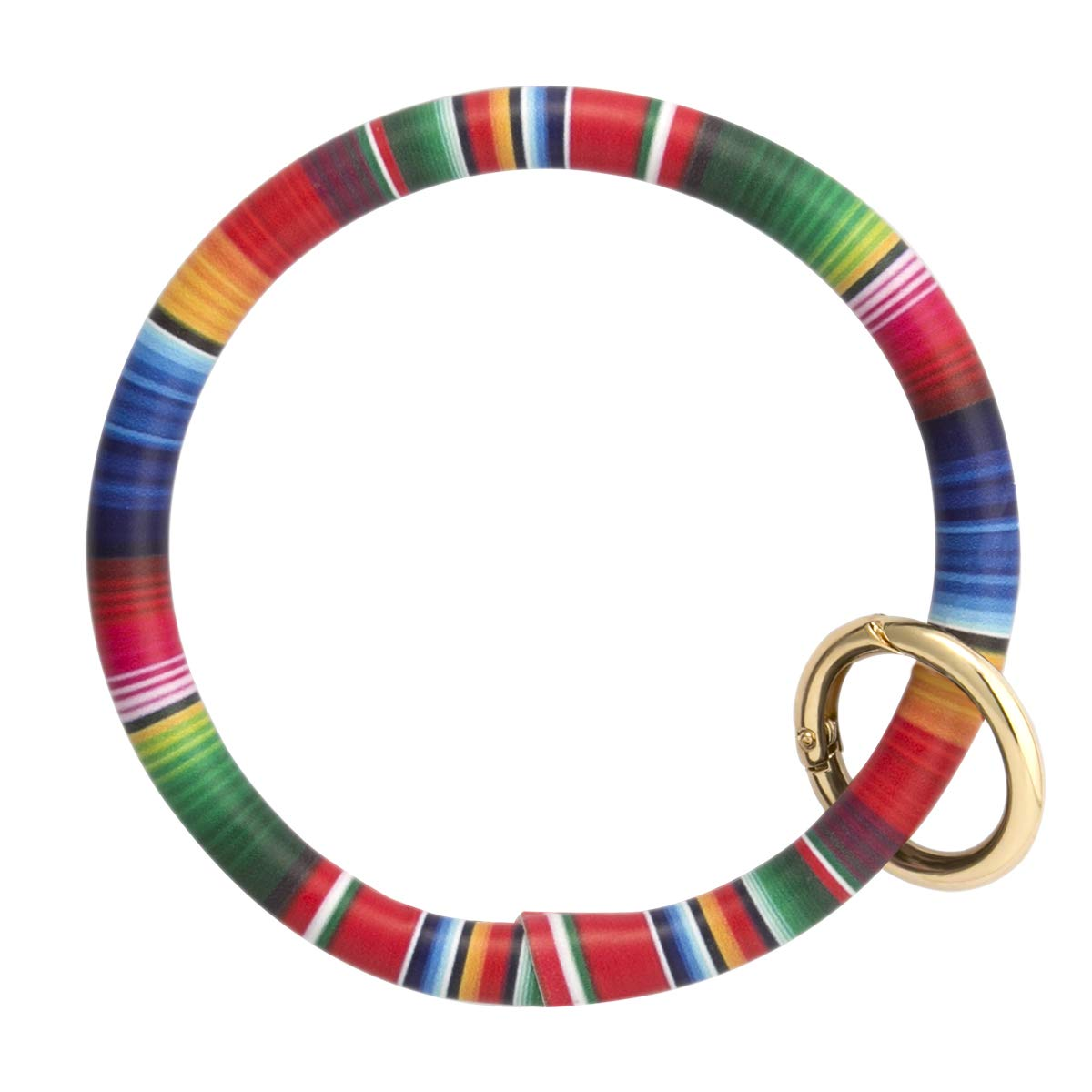 Key Ring Bangle Wristlet Keychain Bracelet O Key Chain for Women Girls