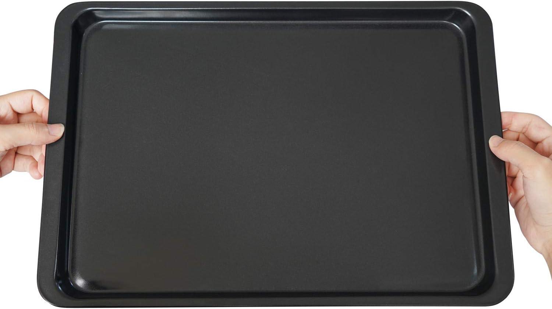 Black Baking Sheet 14 Inch Beasea 2 Pack Nonstick Carbon Steel Cookie Sheet Pan Oven Baking Pans Baking Tray Rimmed Baking Pan