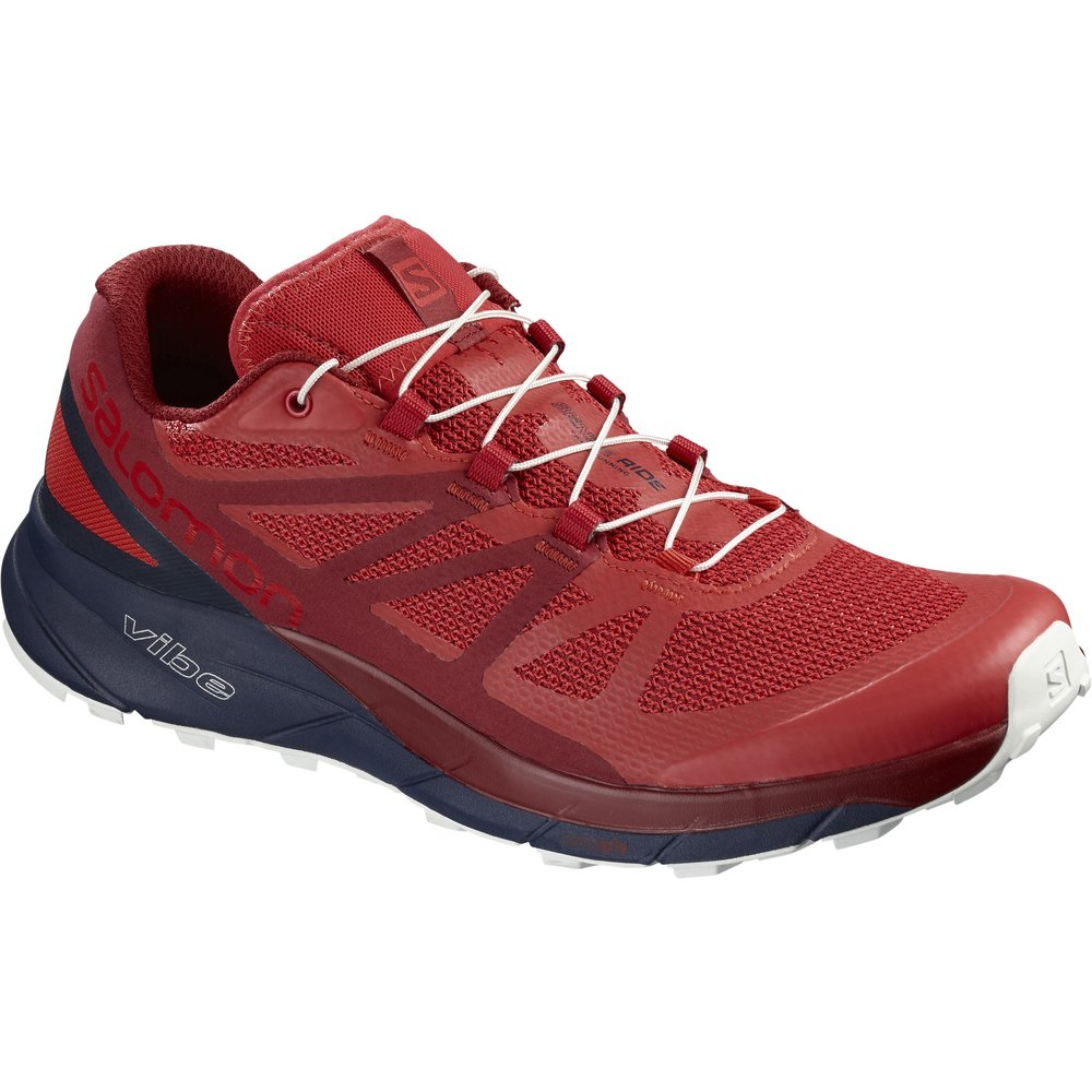 Salomon Sense Ride Running Shoe - Men's B078SVFY7K 8 M US|High Risk Red/Navy Blazer/Red Dahlia