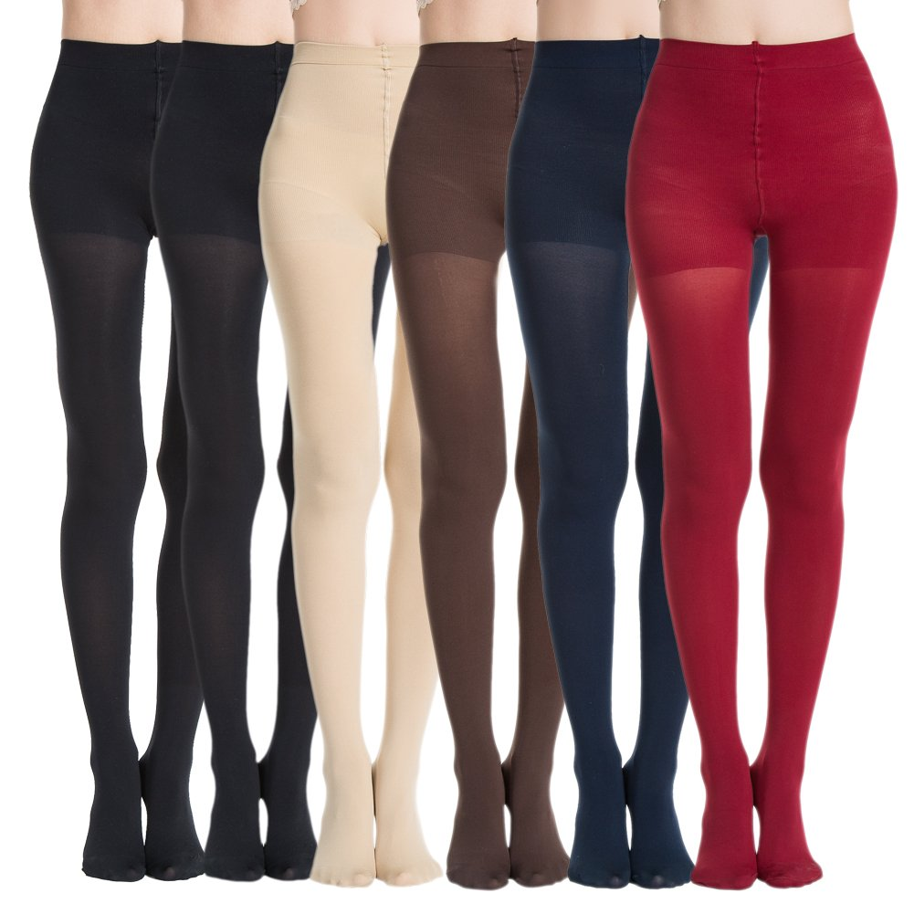 71c4adb40 MANZI Women s 2-6 Pairs Opaque Control Top Tights Comfort Stretch 70 Denier  Pantyhose product