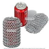 Medieval Aluminum Chainmail Wine Bottle Holder Soda Beer Can Koozie LARP SCA