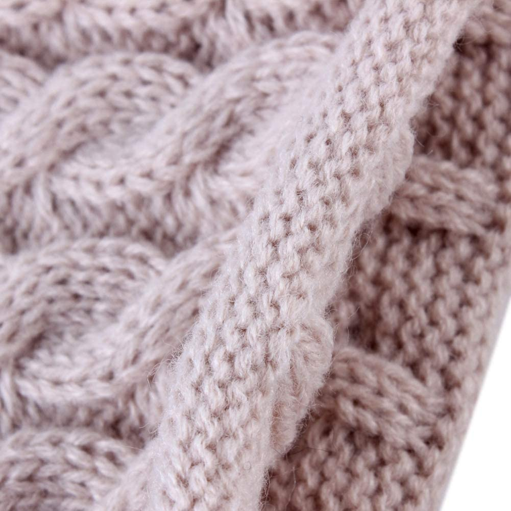 Schal-Sets Winter Warme M/ütze Bommel Caps mit Pl/üschkugel f/ür 0-2T EFINNY 2Pcs Baby Kleinkinder Bobble Strickm/ütze