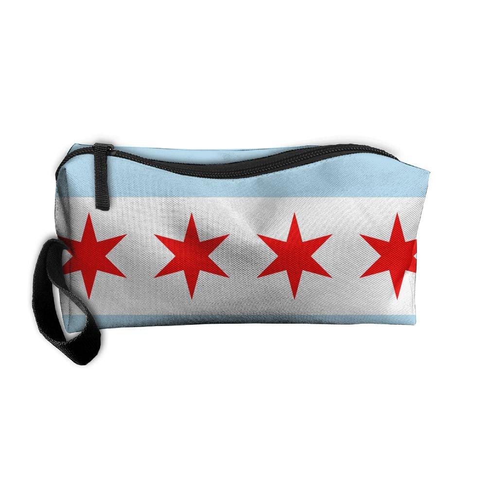 EwSdA America Chicago City Flagコスメティックバッグ男女兼用多機能Receivingバッグ   B07CV8HKX5