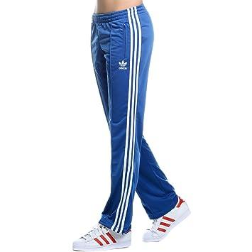 3f7fc4c772c5e3 adidas Originals New Firebird Track Pant Damen Trainingshose Sporthose BLAU  Weiss