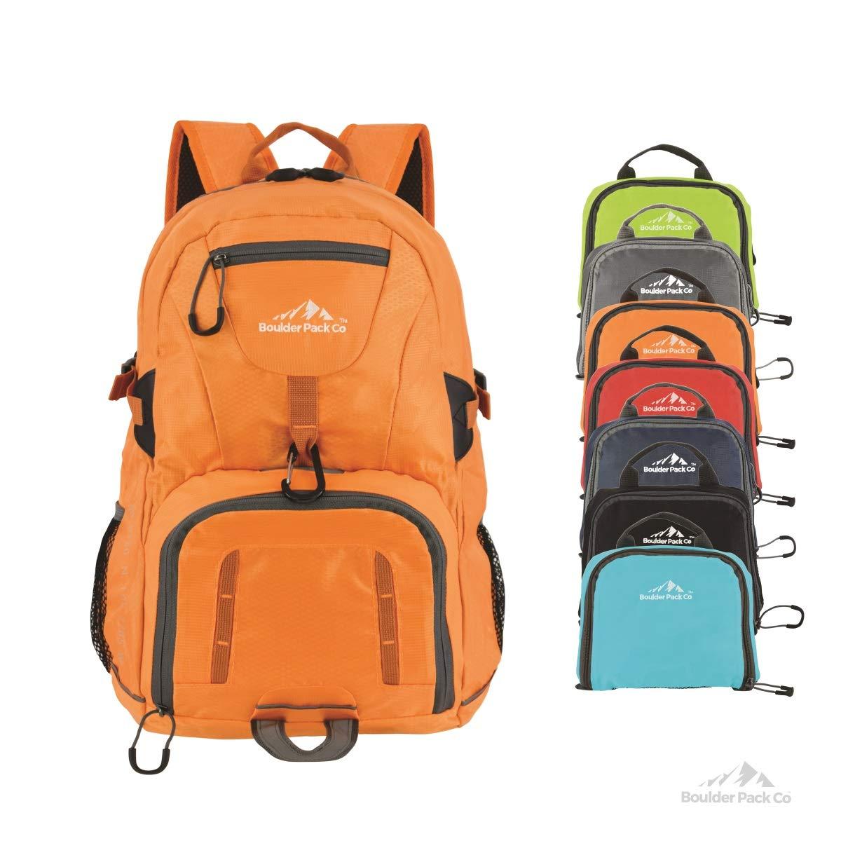 Boulder Pack Company Lightweight Foldable Travel Hiking Daypack Backpack
