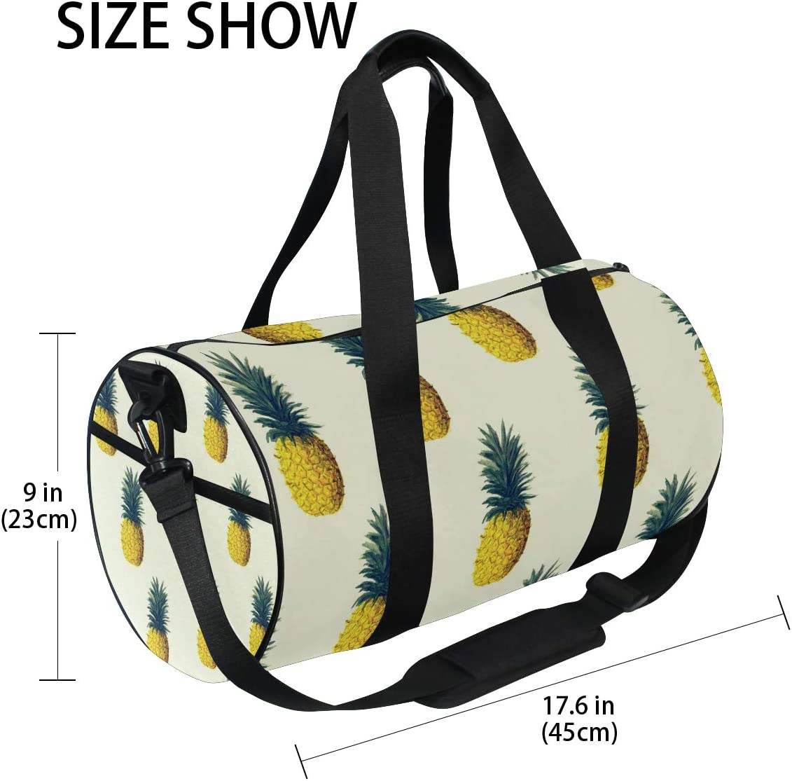 OuLian Duffel Bag Pineapple Fire Women Garment Gym Tote Bag Best Sports Bag for Boys