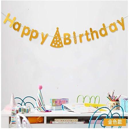 Decoraciones de fiesta de cumpleaños Feliz Cumpleaños Carta ...