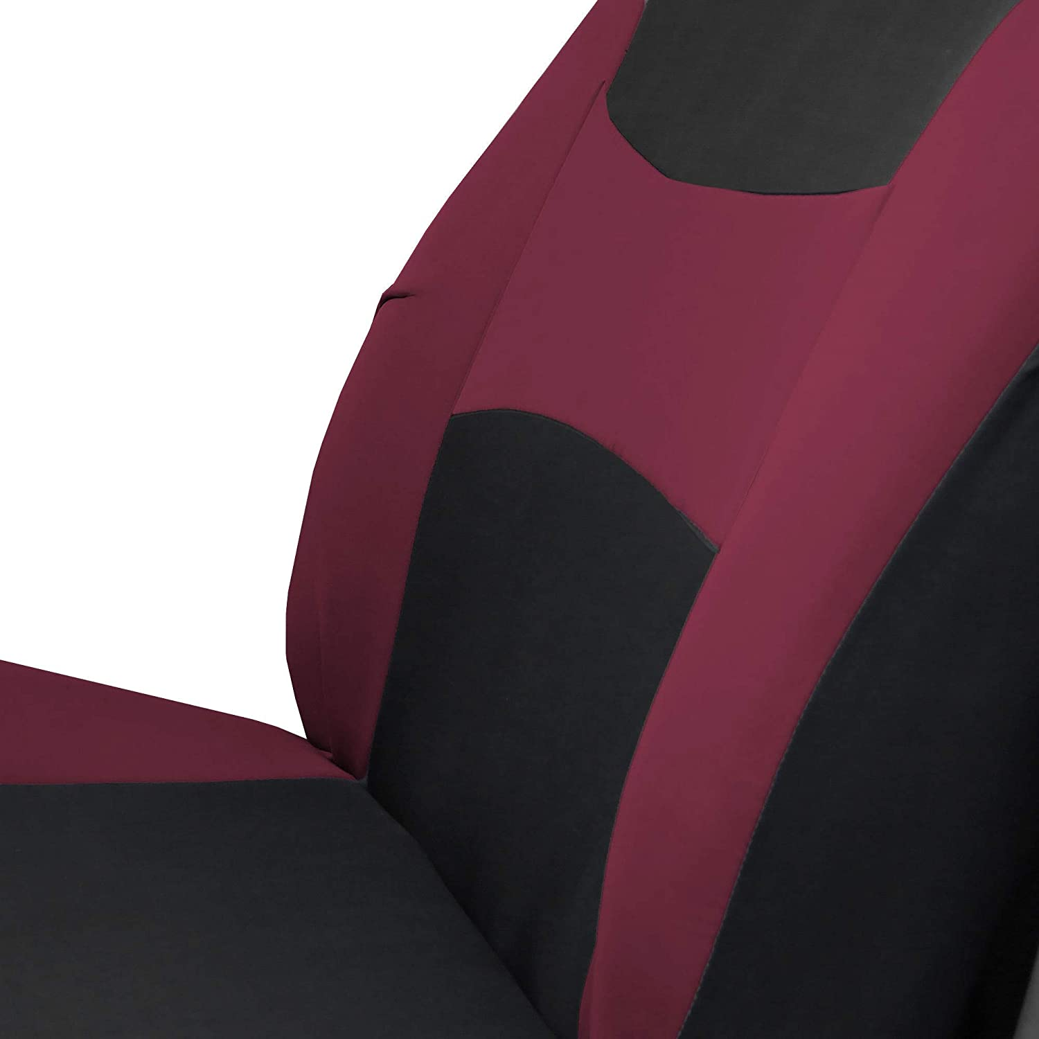 SUV Solid Black- Fit Most Car FH Group FB030115 Combo Light /& Breezy Cloth Full Set Car Seat Covers Airbag /& Split Ready Truck or Van