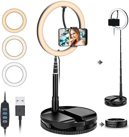 Powcan 10 Inch Selfie Led Ring Light Table Ring Light Elektronik