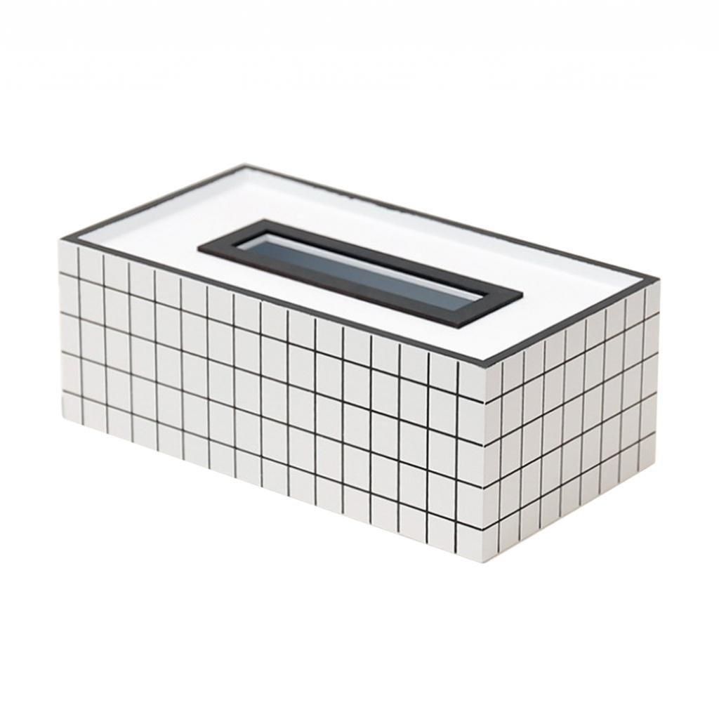 Blesiya Bamboo Tissue Box Cover Holder Case Storage Box Napkin Organizer
