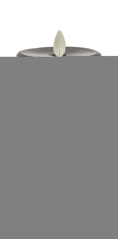 リモートReady withタイマーテクスチャスレートグレー3 x 5ワックスLED Pillar Candle B07CLGMZLY 16879