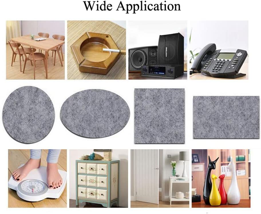 5cm//1.96inch Width 1Roll Grey 100cm//39.3inch Cuttable Heavy Duty Felt Strip Roll DIY Self Adhesive Furniture Pads Wood Floor Protector Non Slip Protection Mats for Table Sofa Plant Pots