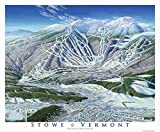 Poster Print entitled 'Stowe Trail Map Image'. Mt Mansfield is the highest point in Vermont at 4,395 feet. This Stowe map image was produced in1990 and the mountain portion was used as a trail map until 2003. Multiple sizes available. Primary...