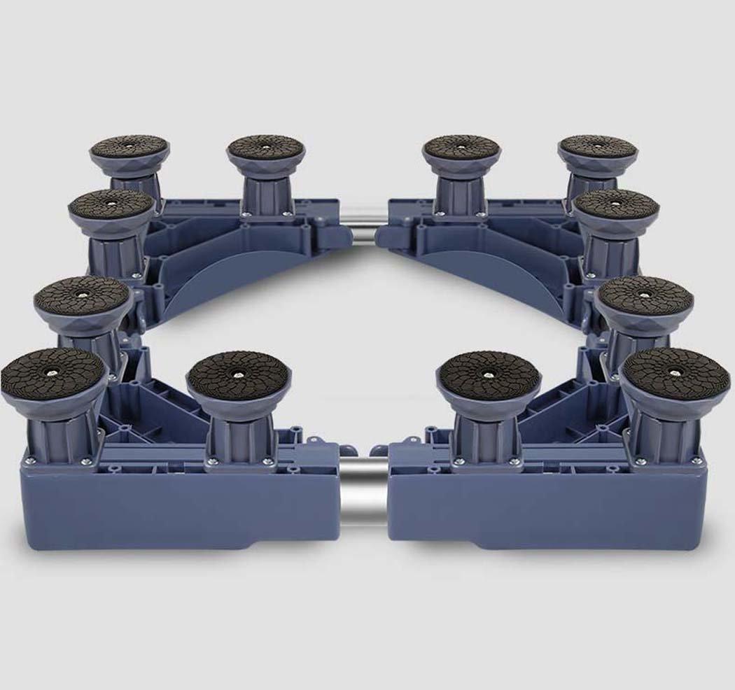 DSHBB Washing Machine Base Plate ,Multi-function Trolley Washing Machine Base ,Stainless Steel Bracket For Washing Machine/Refrigerator/Dryer/Cabinet (Color : Gray)