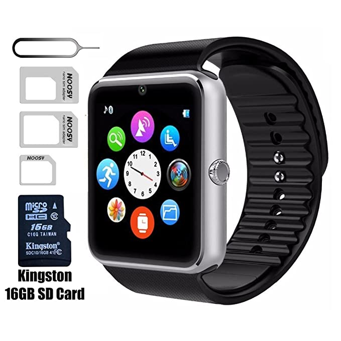 Smart Watch GT08 Bluetooth con 16 GB Tarjeta SD y Ranura ...