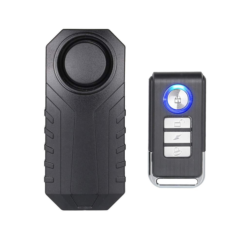 Mengshen 113dB Wireless Antifurto Moto/Bicicletta / Bici Antifurto Allarme, Impermeabile e Super Forte, Z08