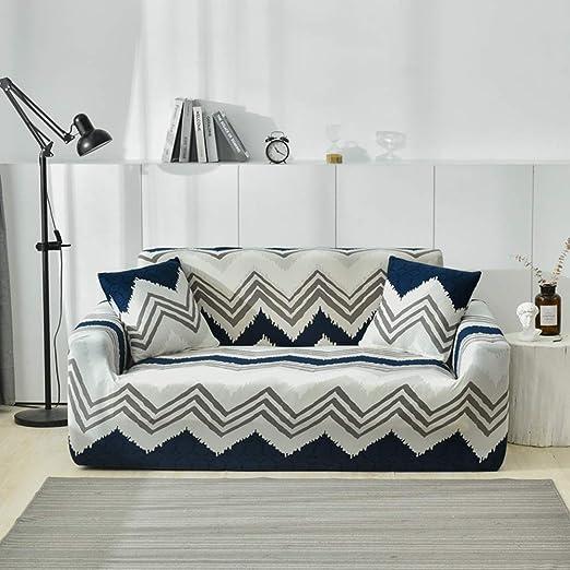 HIFUAR Fundas Sofa Elasticas,Moderna Fundas para Sofás Cubierta de Sofa Estampadas Cubre Sofa Universal,Desmontable y Lavable,Fundas Protector para ...