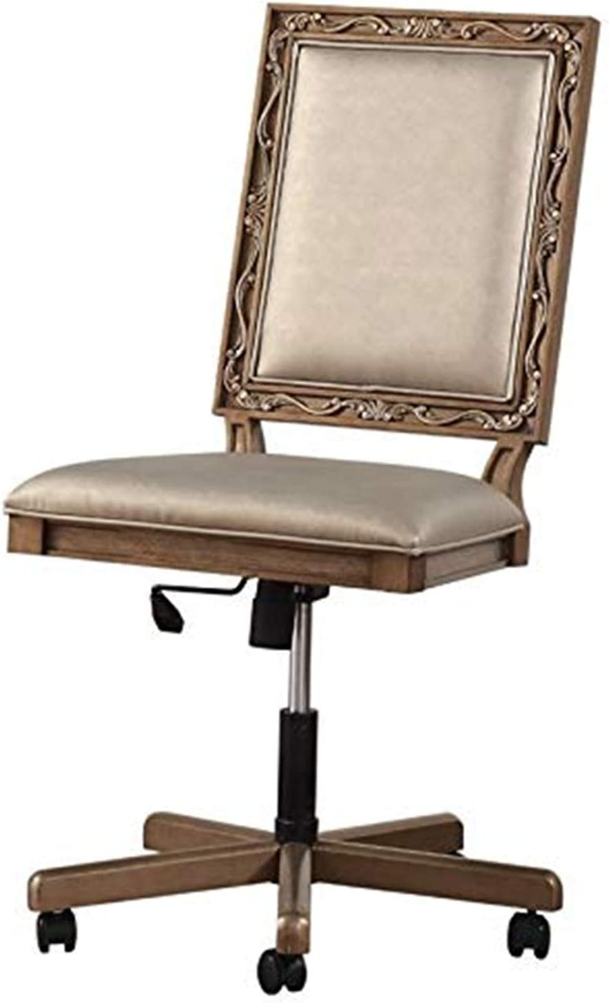 ACME Furniture Orianne Executive Office Chair, Champagne PU and Antique Gold