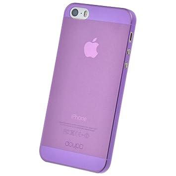 doupi UltraSlim Funda para iPhone 5 5S SE, Finamente Estera Ligero Estuche Protección, morado