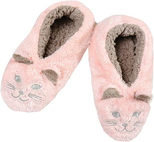 Faceplant Dreams Footsies Slippers Brown Dog Tired Motif Medium