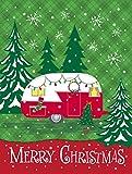 Caroline's Treasures VHA3018GF Christmas Vintage Glamping Trailer Flag Garden, Small, Multicolor For Sale