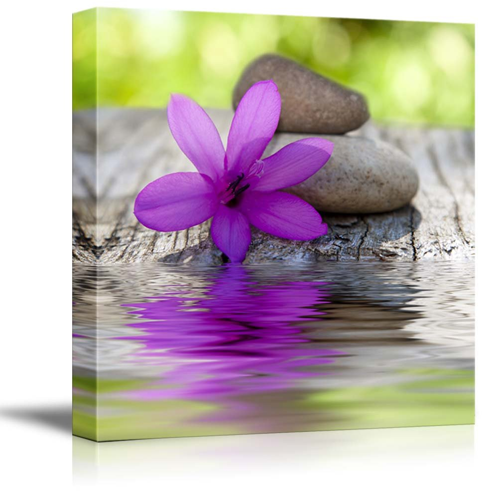 Wall26 art prints framed art canvas prints greeting canvas prints wall art natural flower with stones and water spazenwellness concept modern wall decor home decoration stretched gallery canvas wrap amipublicfo Image collections