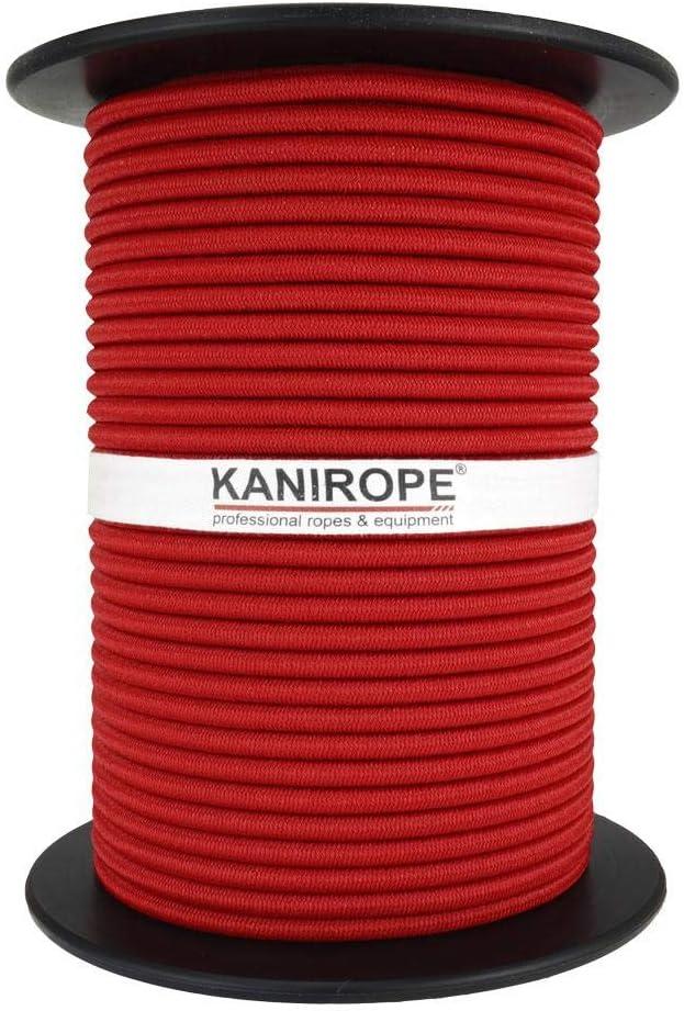 blau Kanirope/® GUMMISEIL 8mm 100m Expanderseil Monoflex PE Spann Seil Spanner Spannseil Plane