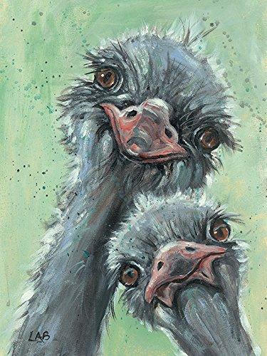 Art Print 30cm x 40cm the Three Amigos Louise Brown