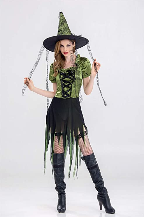 Amazon.com: MY Witch Irregular Long Witch Suit Adult ...