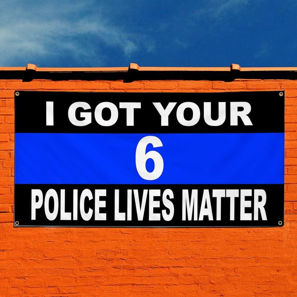 4 Grommets 28inx70in Multiple Sizes Available Set of 2 Vinyl Banner Sign I Got Your 6 Black Blue White Lifestyle Marketing Advertising Black