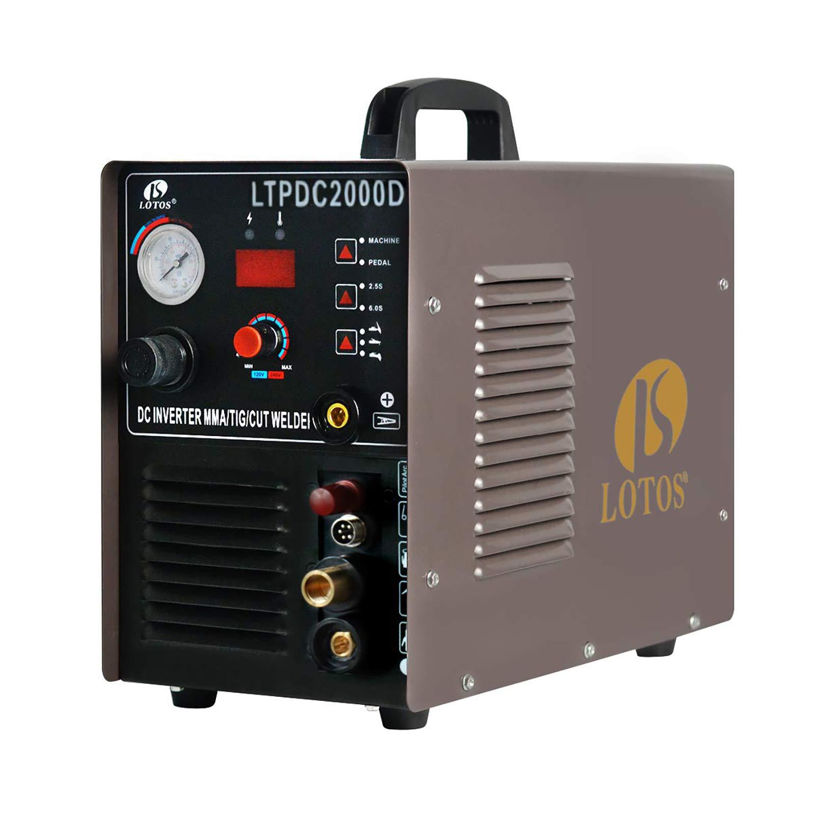 Lotos Pilot Arc Dual Voltage Plasma Cutter and 200A Tig/Stick Welder LTPDC2000D