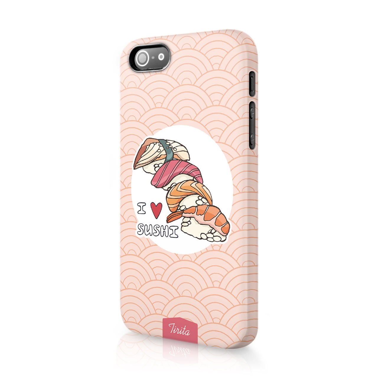 iPhone X&Xs Tiritaハードケースカバー寿司和食日本デザインデザイナー柄   B0788S5PSR