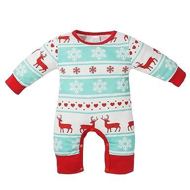 Amazon Com Chinatera Baby Boys Girls Christmas Clothes Snowflake