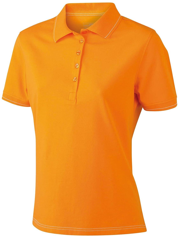 James & Nicholson Funktionspolo Elastic, Polo para Mujer, Naranja (Orange/White), (Talla del Fabricante: Medium) JN568