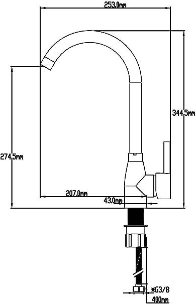 DP Grifería GC-0012 Grifo de fregadero, color plateado: Amazon.es ...